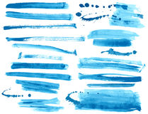 Ink brush strokes set Stock Photo