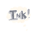 Ink cartoon  with thought bubble Stock Images