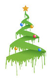 Ink Christmas tree illustration Royalty Free Stock Photography