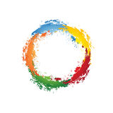 Ink Circle Background. Multi color Royalty Free Stock Photo