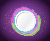Ink circle drops illustration design Royalty Free Stock Photography