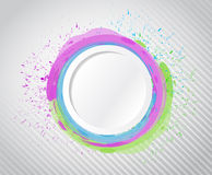Ink circle drops illustration design Royalty Free Stock Images