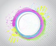 Ink circle paint. illustration design Stock Image