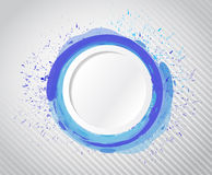 Ink circle space illustration design Stock Photo