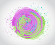 ink color circle illustration design Royalty Free Stock Photos