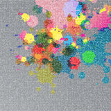 Ink color on fabric texture Stock Photography