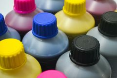 Ink colors Sublimation royalty free stock photo