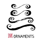 Ink dividers and ornaments Royalty Free Stock Photography