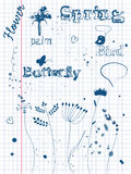 Ink doodles Royalty Free Stock Images