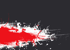 Ink drag red Royalty Free Stock Images
