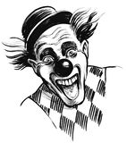 Laughing clown Stock Photography