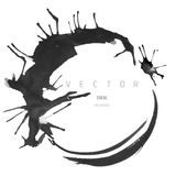 Ink drawing vector round frame Stock Image