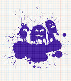 Ink-drawn monsters Stock Photo