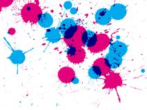 Ink drop stains. Illustration of ink drops on white background royalty free illustration