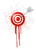 Ink drop target illustration design Stock Photos