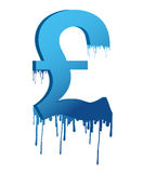 Ink dropping currency Stock Image