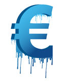 Ink dropping currency Royalty Free Stock Photos