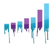 Ink dropping graph illustration Royalty Free Stock Images