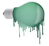 Ink dropping lightbulb illustration design Stock Photography