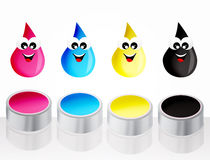Ink drops icon Royalty Free Stock Photos