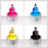 Ink drops icon Stock Photography