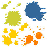Ink drops and splashes Stock Photo