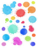 Ink Drops Spots Background Royalty Free Stock Photography
