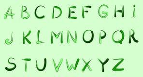 Ink English alphabet Stock Photo