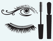 Ink for eyelashes and eye Royalty Free Stock Photo