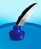 Ink and feather royalty free stock photography