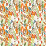 Ink feather seamless pattern. Hand drawn doodle vector background. stock illustration