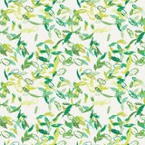 Ink feather seamless pattern. Hand drawn doodle vector background. royalty free illustration