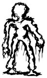 Ink Figure. Symbolic figure ink design vector, over white, isolated Royalty Free Stock Images