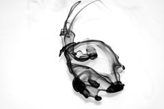 Ink Flow. Ing suspended in water Royalty Free Stock Photo