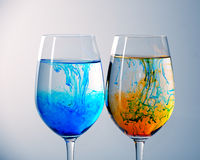 Ink in  glasses Stock Images