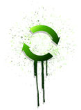 Ink green arrow cycle illustration design Royalty Free Stock Photo