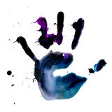 Ink hand print Royalty Free Stock Photography