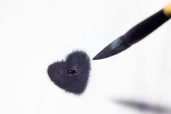 Ink heart Stock Photography