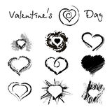 Ink hearts Royalty Free Stock Images
