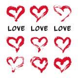 Ink hearts card Stock Photo