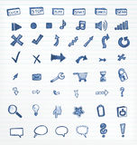Ink icons Stock Photos