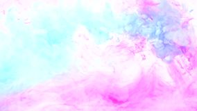 Ink infusion effect turquoise pink fume mix motion