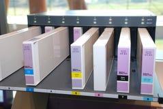 Ink-jet cartridge. Colour cartridges for professional ink-jet printer Stock Images