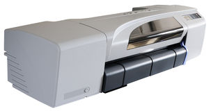Ink-jet plotter isolated Stock Image