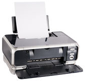 Ink-jet printer loaded Royalty Free Stock Image