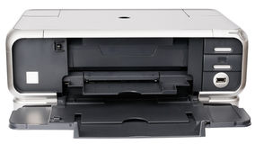 Ink-jet printer op wit stock foto's
