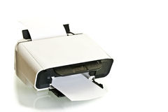 Ink jet printer with paper in Stock Photos