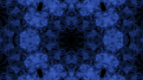 Ink kaleidoscope is abstract ink background like Rorschach inkblot test3. Blue ink or smoke isolated on black in slow stock video footage
