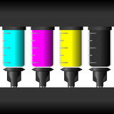 Ink levels. With four different colors Royalty Free Stock Photography