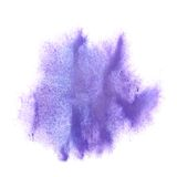 Ink lilac blot splatter background isolated on Stock Photos